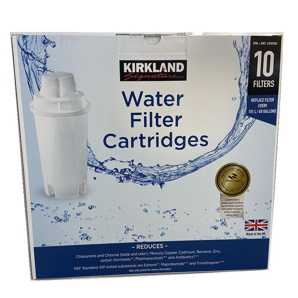 [英國製 Kirkland 圓形8周濾芯] 適用 Brita 濾水壺濾心/濾芯 (10入裝有外盒)