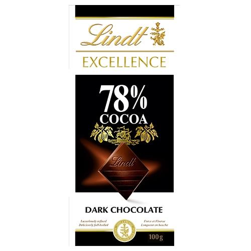 瑞士蓮極醇系列78%黑巧克力100g【愛買】