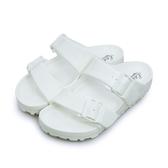 LIKA夢 LOTTO 馬卡龍雙扣環時尚輕量拖鞋 海灘拖鞋 室內、外拖鞋 蛋白 3809 男