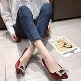 春季新款高跟細跟尖頭水鑚韓版女單鞋性感低幫鞋工作鞋女鞋子 雙12全館免運