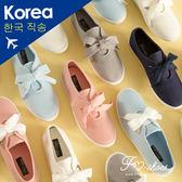 休閒鞋.寬鞋帶綁結休閒小白鞋(白、灰、淺藍)-FM時尚美鞋-韓國精選.daily