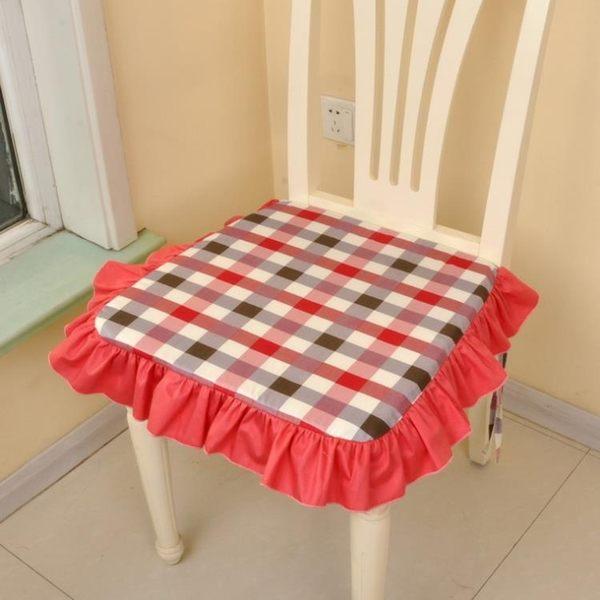 [超豐國際]田園布藝棉含芯方形坐墊 椅墊可拆洗餐椅墊1