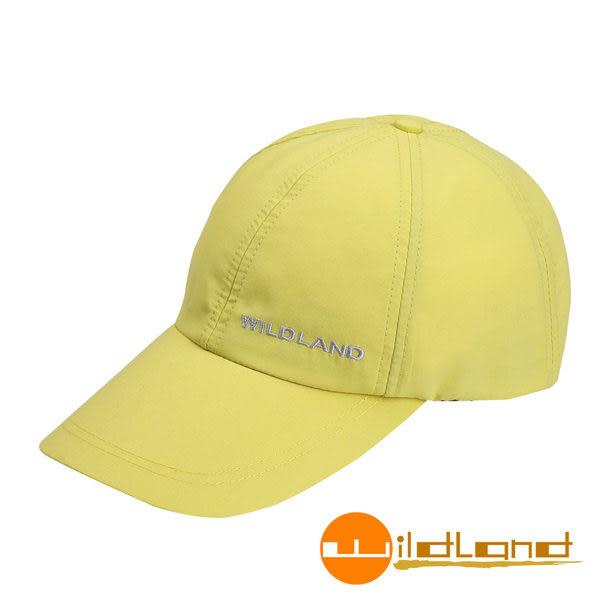 Wildland荒野 W1013-34檸檬黃 中性 抗UV透氣棒球帽/防曬/遮陽/踏青/郊遊/MIT/休閒帽/工作帽