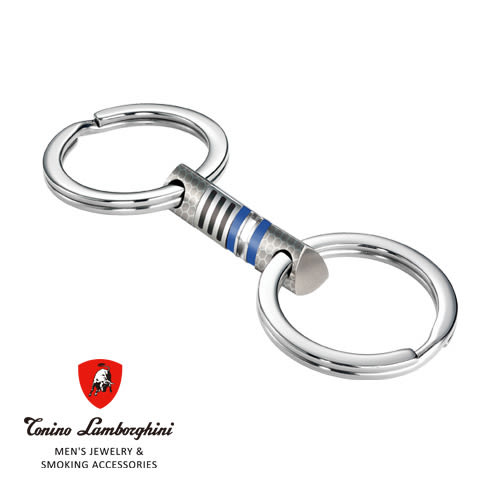 義大利 藍寶堅尼精品 -  CORSA Collection 鑰匙圈(藍色) ★ Tonino Lamborghini 原廠進口 時尚必備行頭 ★