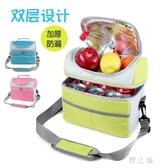 野餐袋 韓式雙層加厚鋁箔保溫包手提便當飯盒保溫袋大號母乳冷藏保鮮冰包 qz3611【野之旅】
