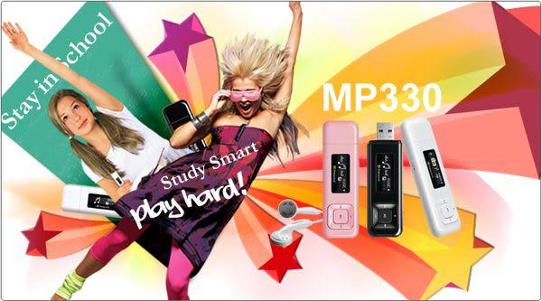 【免運費】創見 T.sonic 330 MP3 /MP330 8GB/8G MP3 隨身聽-黑 X1【內含耳掛式耳機】【NEW新版快充電功能】