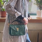 真皮側背包-休閒植鞣皮復古小方包女手提包2色73yq45[時尚巴黎]