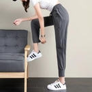 速乾運動褲 冰絲哈倫褲女夏季薄款休閒運動褲子寬鬆大碼顯瘦束腳褲