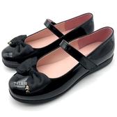 《7+1童鞋》台灣製 KING CHILDED 基本款 立體蝴蝶結 造型小金蝴蝶結 娃娃鞋 公主鞋 包鞋 D660 黑色