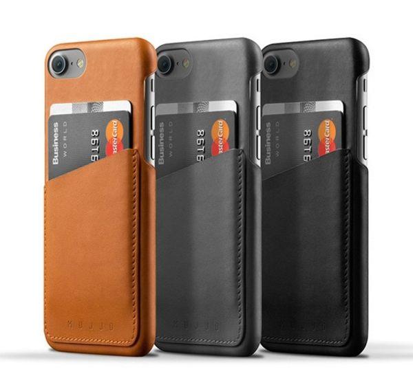 荷蘭Mujjo iPhone7/7Plus真皮手機殼錢包卡套直插通販屋