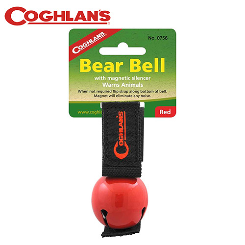 丹大戶外【Coghlans】加拿大 COLORED BEAR BELL WITH MAGNETIC SILENCER 熊鈴(紅) 0756