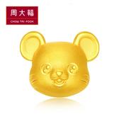 QQ鼠黃金路路通串飾/串珠 周大福