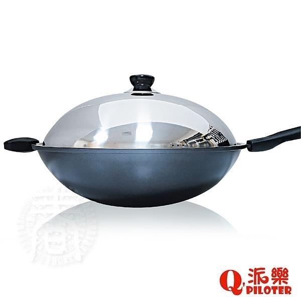 【南紡購物中心】派樂 鈦合金冷泉不沾鍋/單柄炒鍋 (36cm含鍋蓋)