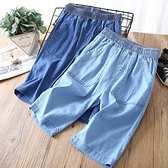 男童牛仔短褲 男童牛仔五分短褲外穿夏季薄款中大童純棉夏裝2021年新款兒童褲子-Ballet朵朵