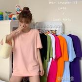 短袖T恤中長款短袖T恤女裝夏季新款韓版寬鬆休閒圓領打底衫chic上衣 暖心生活館
