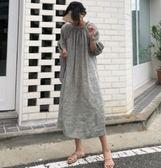 時尚連身裙中長款6371新款chic文藝復古寬鬆連身裙TBF-27C胖胖唯依
