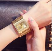 鑲鑚腕錶小巧流蘇手錬錶防水時尚潮流女士手錶水鑚石英錶 薔薇時尚