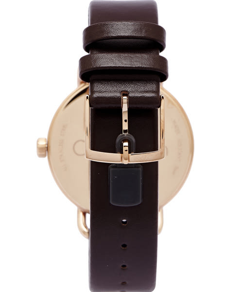 CK Calvin Klein 大自然木質感手錶(K7B216G6) -銀白面/42mm