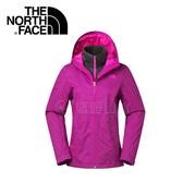 【The North Face 女款 DRYVENT兩件式保暖外套《桃紅/紫紅》】CVF7GZD/防水透氣/保暖刷毛