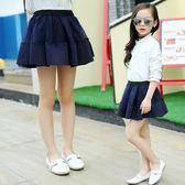 女童短裙兒童半身裙2018新款韓版蓬蓬裙中大童百搭網紗裙子潮 晴天時尚館