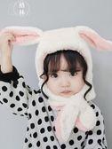 寶寶帽子秋冬男童圍巾女童圍脖一體嬰兒帽子兒童護耳帽新生兒帽 【格林世家】