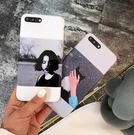 【SZ14】iPhone7plus手機殼 冷淡風 女孩 手控 光面烤瓷 軟膠 iPhone6/6s plus手機殼