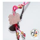 雞(粉晶)吊飾  + 平安小佛卡【十方佛教文物】
