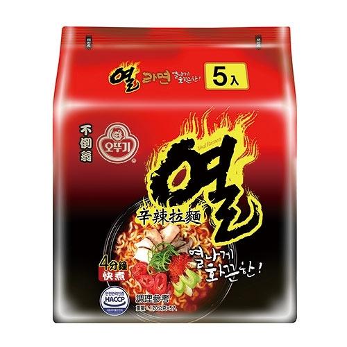 韓國不倒翁辛辣拉麵120g x5【愛買】