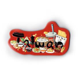 【收藏天地】台灣紀念品*軟膠冰箱貼-台灣三寶之美食
