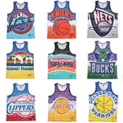MITCHELL & NESS M&N 球衣 背心 NBA 復古 潑漆 塗鴉 男 (布魯克林) MN21ATK02-