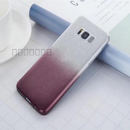 【SZ93】漸變閃粉三星C10手機殼軟矽膠套note8 手機殼漸變閃粉全包TPU軟殼保護套個性外殼
