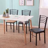 時尚書桌椅美甲椅凳飯店餐廳白色椅子