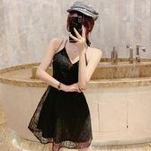 洋裝小禮服顯瘦短款夜店性感V領小心機鏤空漏背洋氣質吊帶洋裝