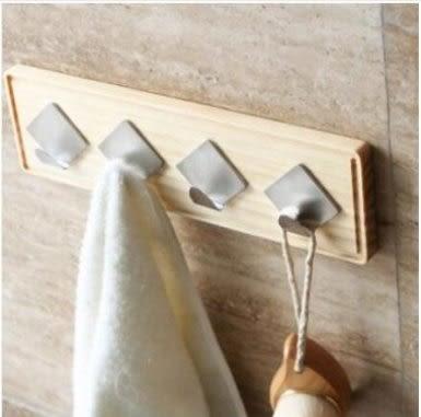 預購-家用多功能實木掛鉤 臥室掛衣架客廳壁掛 門後木質掛衣帽粘鉤(小號)