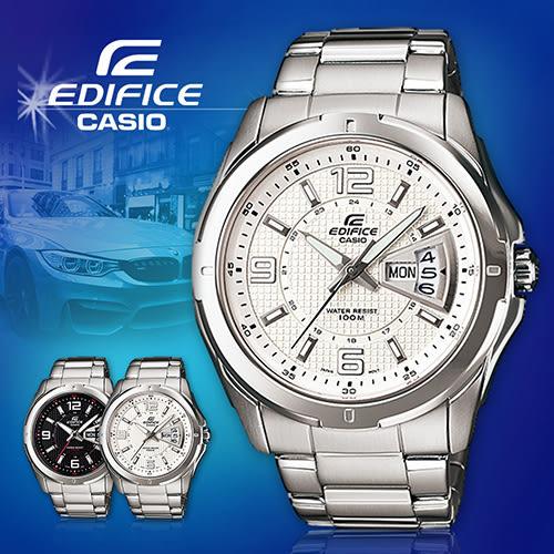 CASIO手錶專賣店 卡西歐  EDIFICE EF-129D-7A 男錶 刮礦物玻璃 防水100米 日期 三折錶帶不繡鋼鐵錶帶