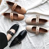 平底方頭單鞋女淺口奶奶鞋懶人鞋溫柔復古仙女鞋豆豆鞋女 可可鞋櫃