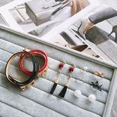 戒指收納展示盒TOOKI CO ~Z432014 ~項鍊戒指耳環手機塞絨布面托盤收納盒地攤