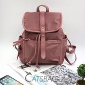 Catsbag|乾燥玫瑰防潑水普拉尼龍後背包|CG1011
