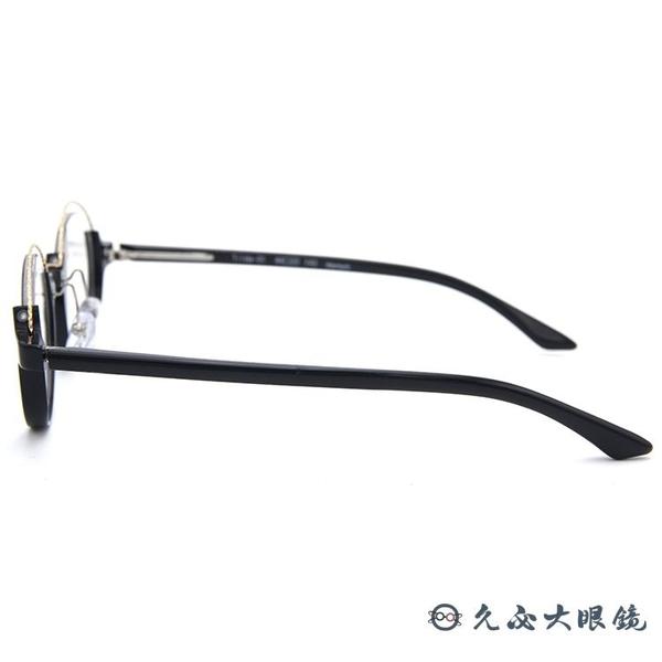 tonysame x padma image 聯名 Tilda 01 (金-黑) 鈦 圓框 近視眼鏡 久必大眼鏡