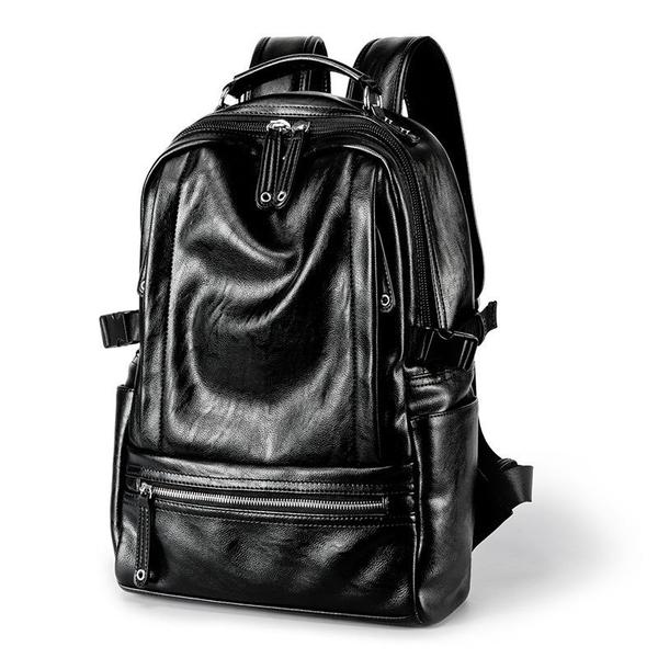 FINDSENSE品牌 韓國 新款  FIN韓國出品 包款 時尚 男士 雙肩包 休閒 大容量 百搭 學生書包 潮流