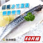 揪團最便宜【吃浪食品】黑潮漁場老饕挪威鯖魚片 60片組(185g±10%/1片)