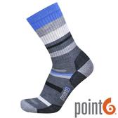 【POINT 6 美國】mixed stripe medium 健行中筒羊毛襪 『灰』22611567 露營|休閒|保暖襪|羊毛