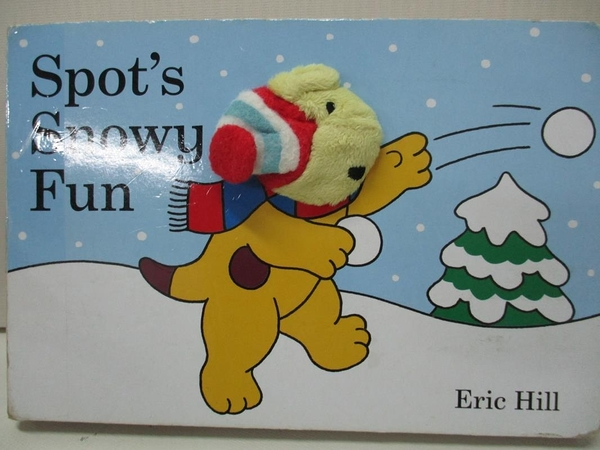 【書寶二手書T6/少年童書_D43】Spot s Snowy Fun Finger Puppet Book_Eric Hill
