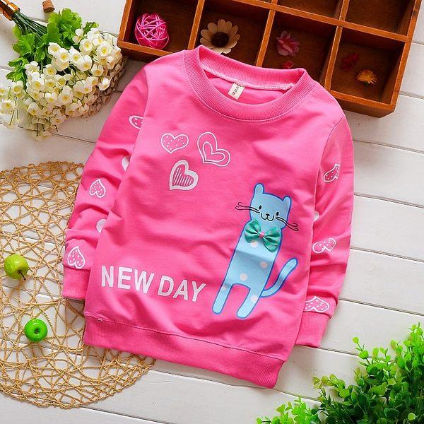 童裝秋裝T恤女童長袖上衣兒童韓版寶寶百搭卡通打底衫 奇思妙想屋