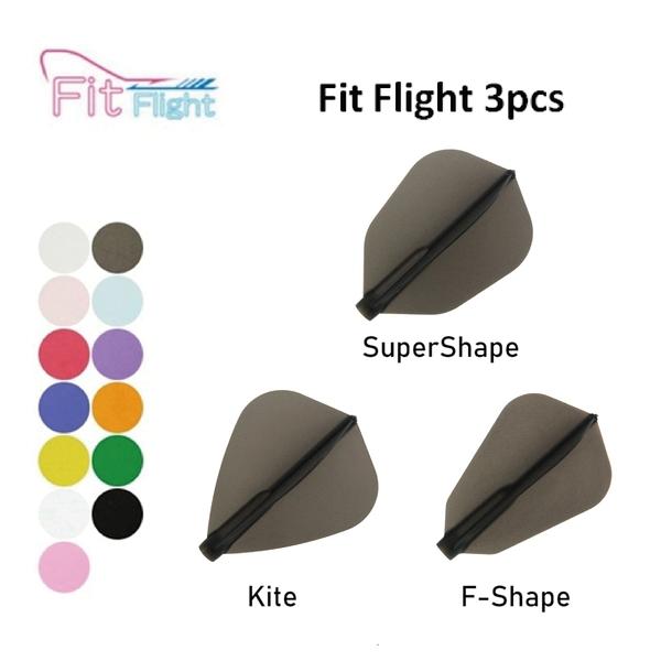 【Fit Flight】F Shape/Kite/S Shape 素色 3pcs 鏢翼 DARTS