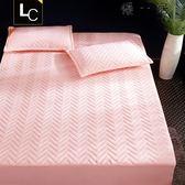 床笠單件加厚夾棉床罩床墊套防滑1.8m床組