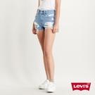 Levis 501中腰排釦牛仔短褲 / 精工大磨損刷破 / 無彈性 / 淺藍水洗