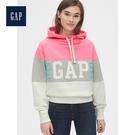 Gap女裝活力撞色徽標LOGO連帽衫