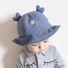 寶寶帽子春夏漁夫帽薄款遮陽8個月-2歲韓版嬰兒男女童帽貓咪盆帽 米娜小鋪