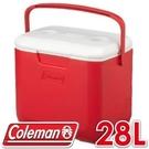 【Coleman 美國 28L EXCURSION 美利紅冰箱】CM-27862/行動冰箱/冰桶/露營冰箱/保冷箱